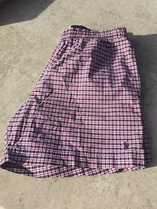 Polo by Ralph Lauren XL Red Plaid Swim Shorts Built in Elastic Mint Free SHIP | eBay