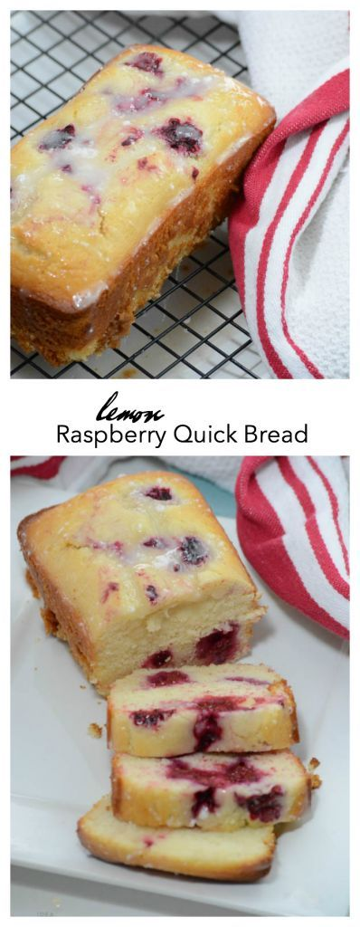 Recipe | This Lemon Raspberry Loaf is a delicious Spring Quick Bread Recipe.  Fresh raspberries (or frozen) give a little twist to a delicious Lemon Bread Recipe. The Idea Room