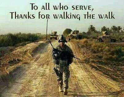 "Saying ""Thank you"" just isn't enough for all that you and your family sacrifice"