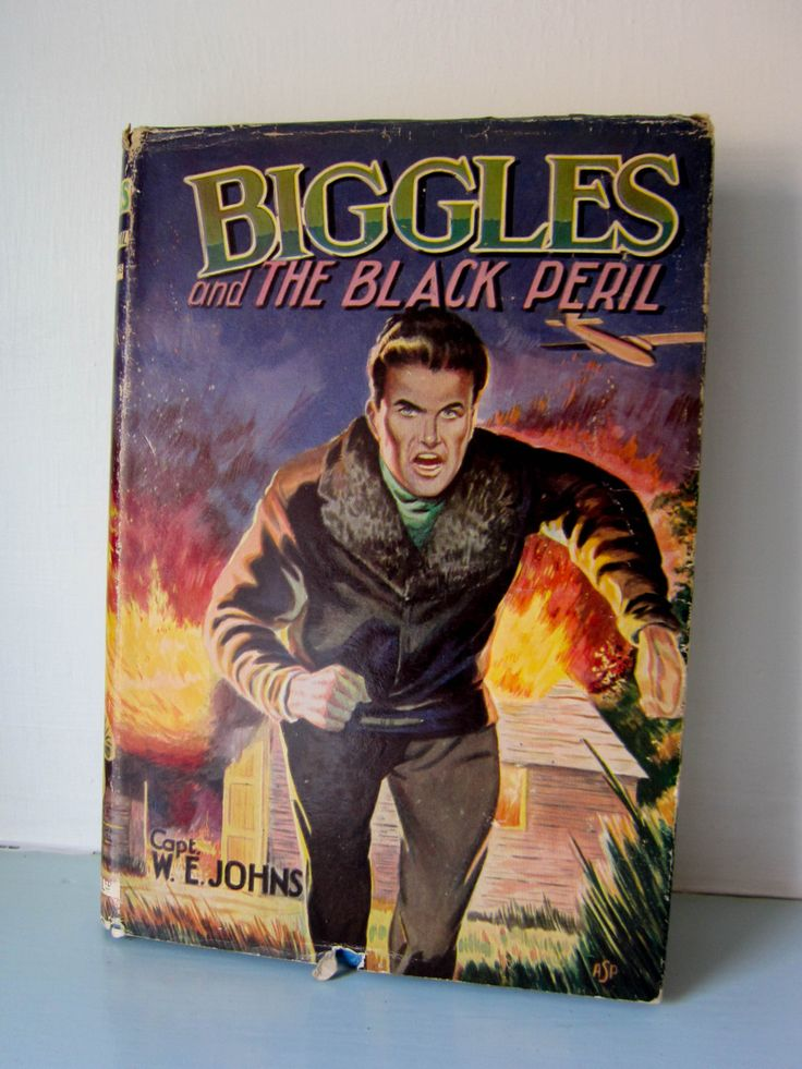 Biggles vintage 1960s hardback book, written by captain W E Johns, Biggles and the black peril, vintage children's book, World war II novel by thevintagemagpie01 on Etsy