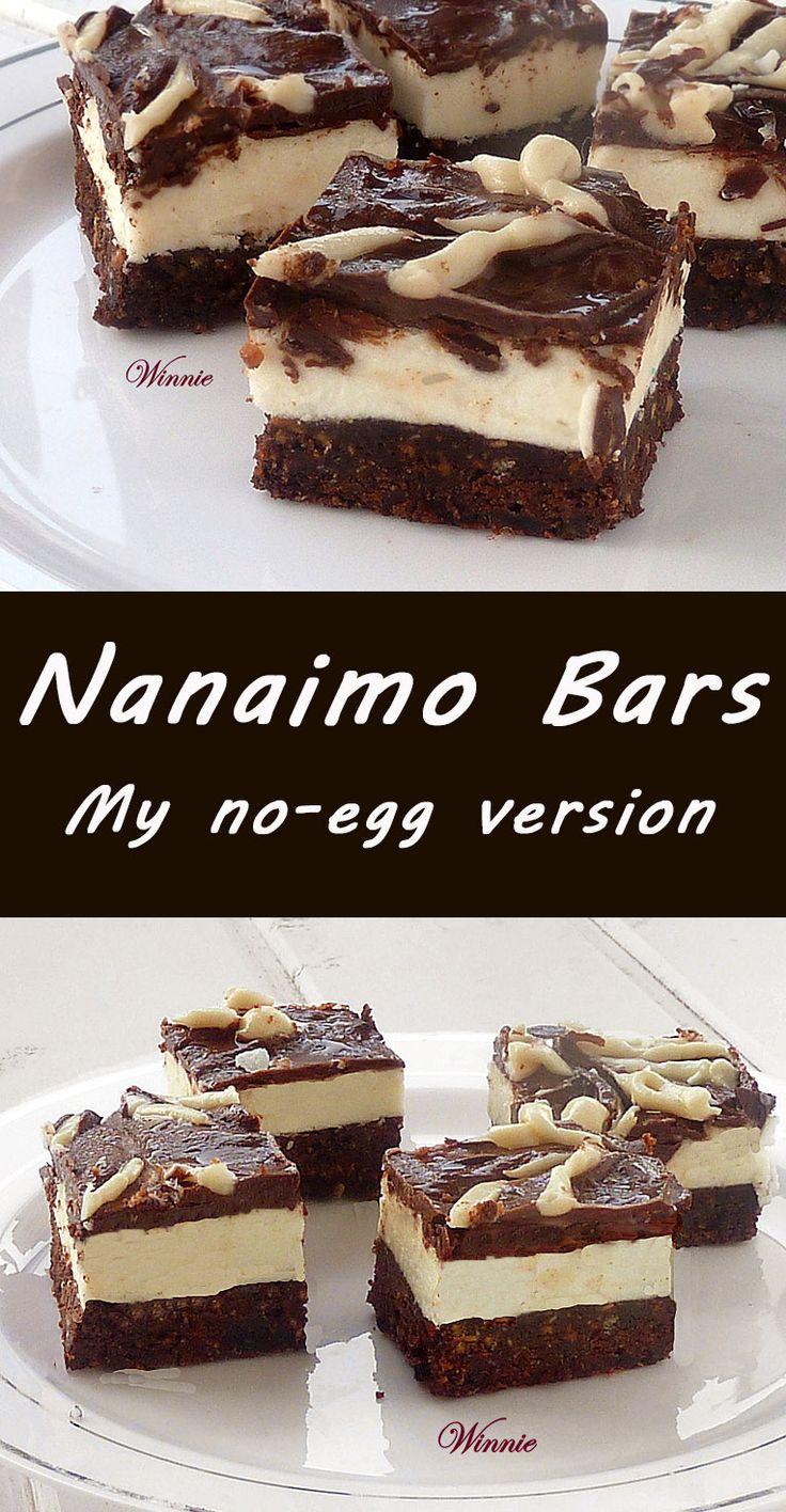 My no-egg version of Nanaimo Bars