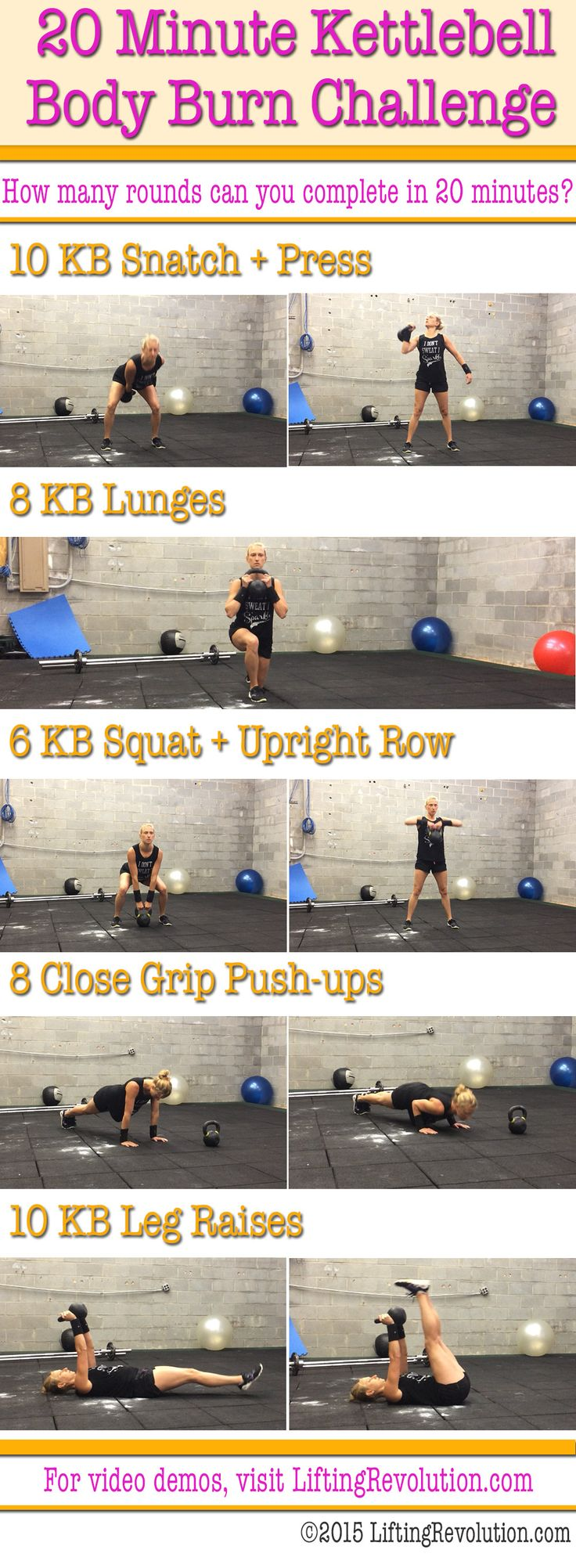 kettlebell 20 minute challenge workout
