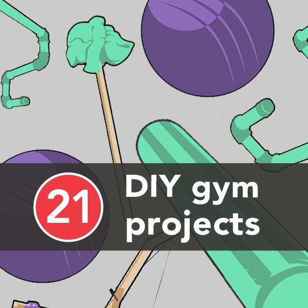 21 DIY Gym Equipment Projects to Make at Home | Greatist Some of these make me shake my head but others are awesome!