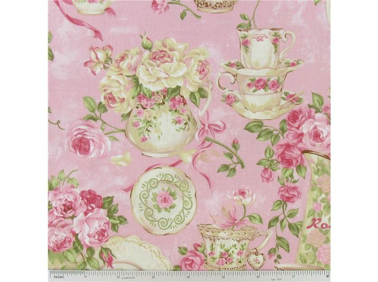 CCT1 8 Rose Garden Tea For Two Pink Fabric