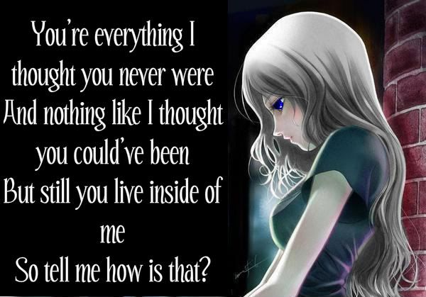 Sad Anime Girl | Anime Sad Quotes | sad things | Pinterest ...