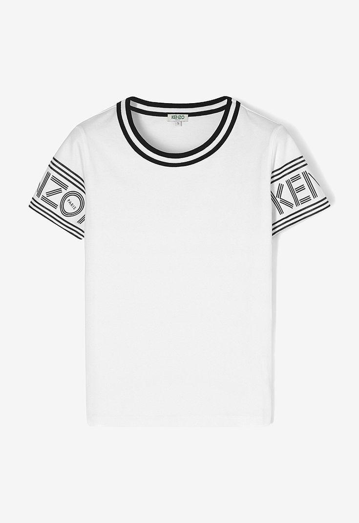 e24599634 WHITE KENZO Logo T-shirt for women | Wishlist 2018 | Shirts, T shirt ...