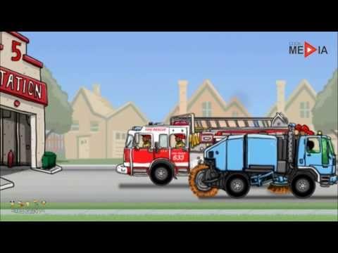 Bombeiros desenho infantil, Caminhao de bombeiro desenho,  Desenho de ca...
