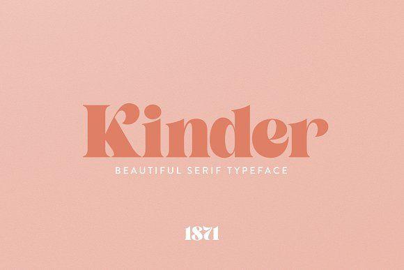 Kinder Font Serif Fonts Vintage Typography Retro Font