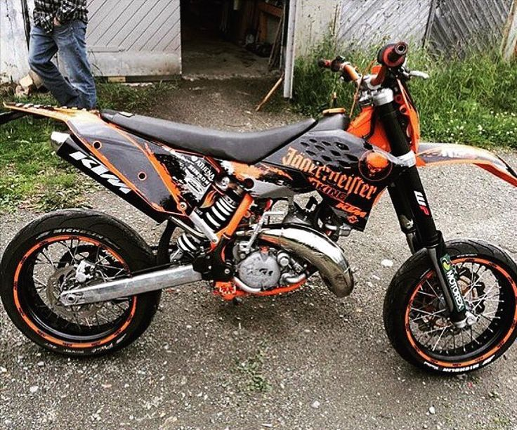 "352 Likes, 2 Comments - Supermoto | BikeGeneration (@bike_generation) on Instagram: ""Jägermeister decor on a KTM👍 ➡️ Pic from @chriiscv _____________________________________…"""