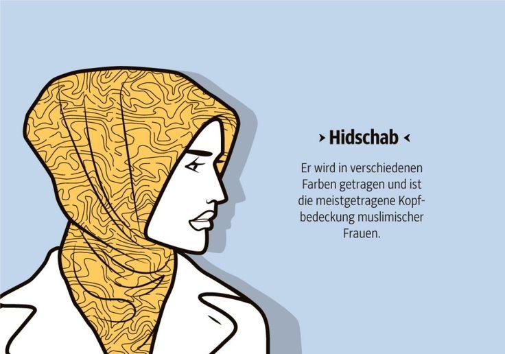 Die verschiedenen Kopftücher muslimischer Frauen via @SZ