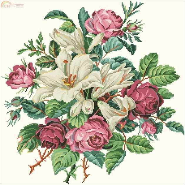 [New] Burda E935 Lillies & Roses -