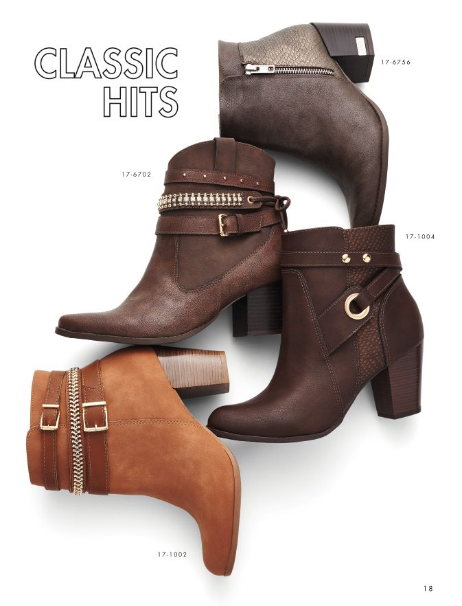 Boots - Cano curto - Clássicas - Fashion - Style - Ref. 17-6702 | 17-6756 | 17-1004 | 17-1002
