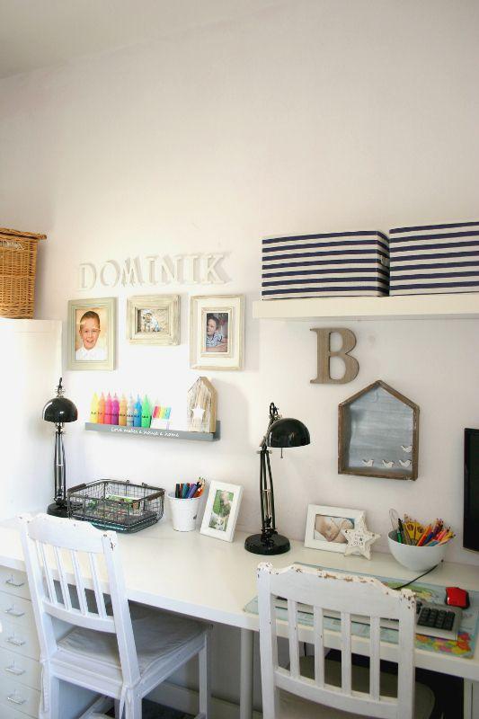 My little white Home: Witaj szkoło, czyli pokój dwóch chłopców