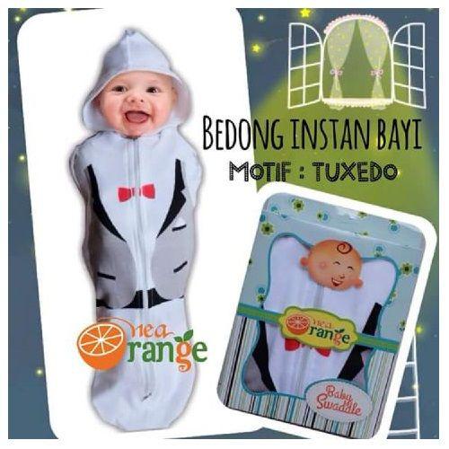 Swaddle Bedong Instan Baby Orange Tuxedo - http://www.adorababyshop.co/jual/swaddle-bedong-instan-baby-orange-tuxedo/