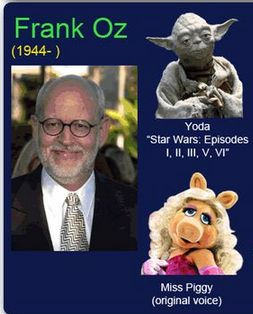 Frank Oz: the voice of #Yoda and #MissPiggy!