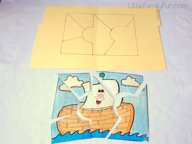 Way to make a picture into a simple puzzle. No printable - will need ...