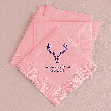 Love Antlers Printed Napkins