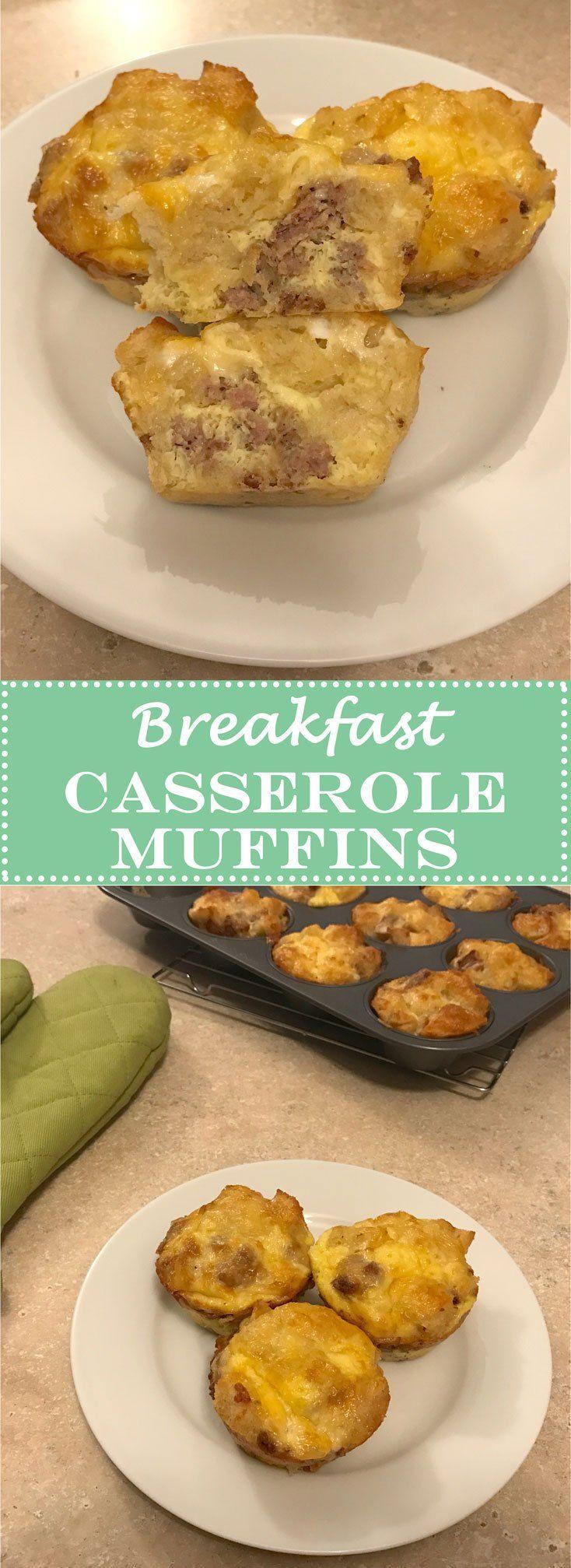 Breakfast Casserole Muffins. Eggs, bread, sausage, cheese...   www.cookcleancreate.co  #breakfast #breakfastcasserolemuffins #eggs #bread #sausage #cheese #cookcleancreate