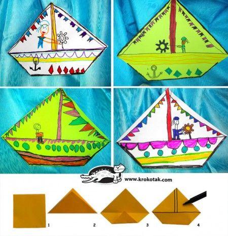 die besten 25 papierboot basteln falten ideen auf. Black Bedroom Furniture Sets. Home Design Ideas