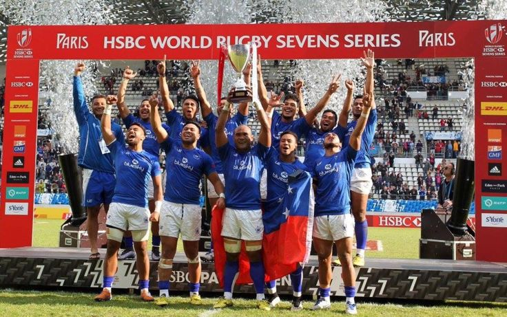 Manu Samoa number 8th in the world ended up as Champion of the Paris Rugby Sevens Cup today!