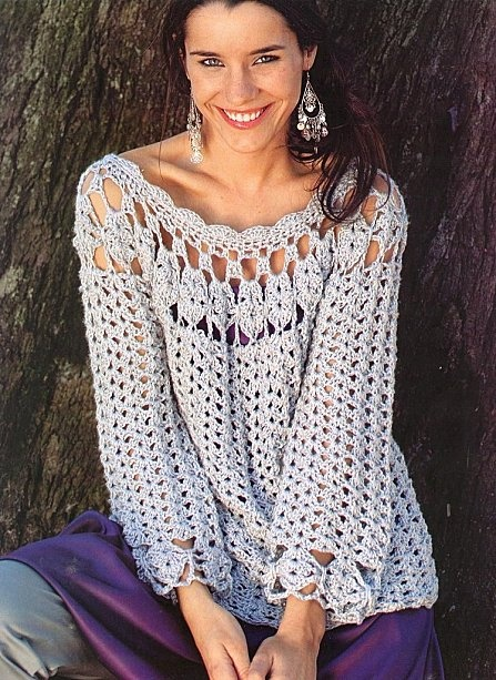 Ecru Tunic free #crochet graph pattern