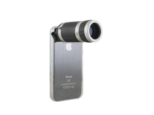 Zoom Telescope Lens With Crystal Back Case For IPhone 4 Is A Case With A  Removable Zoom Lens.