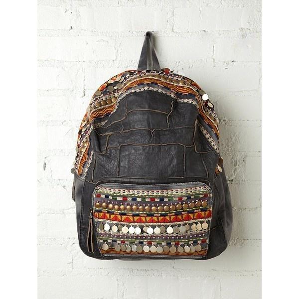 Free People Alameda Embellished Backpack ($148) ❤ liked on Polyvore
