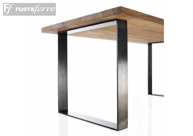 Mesa de forja y madera modelo Roma www.fustaiferro.com https://fustaiferro.wordpress.com/