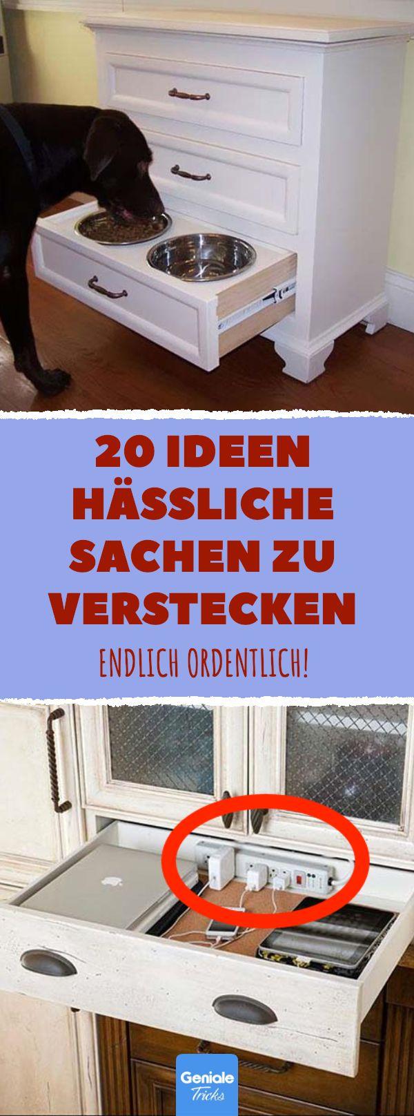 20 Ideen hässliche Sachen zu verstecken #aufräum…