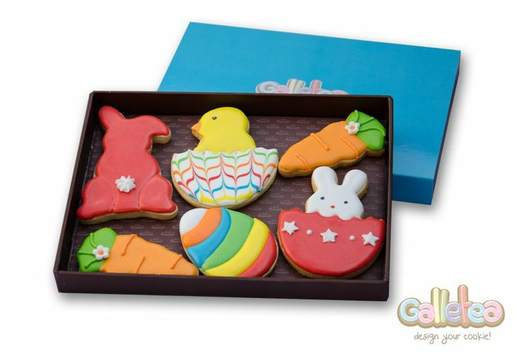 Pack especial de Pascua en color rojo: http://www.galletea.com/galletas-decoradas/