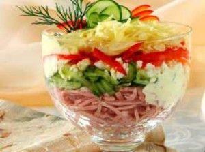 Салат из фасоли с ветчиной идеально подойдет к Новогоднему столу и просто очень вкусный!