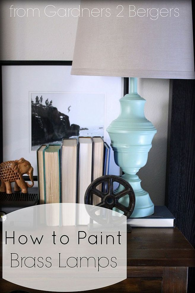 how to paint brass lamps brass lamp how to paint and brass. Black Bedroom Furniture Sets. Home Design Ideas