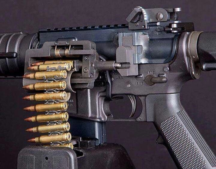 Belt fed AR 15