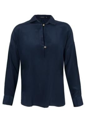 Camisa Seda Lorella Azul – Letage