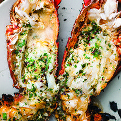 Grilled Lobster with Garlic-Parsley Butter. Find other great eats at http://pinterest.com/actvlifeessntls/!