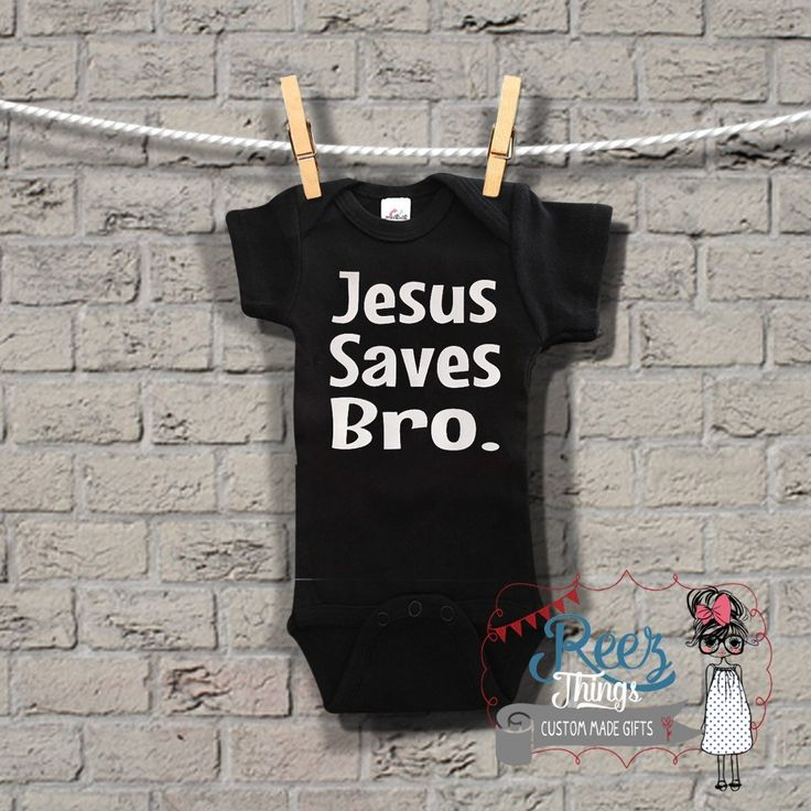 376 best products images on pinterest infant infancy and newborns religious black bodysuit inspirational custom funny jesus saves bro negle Image collections