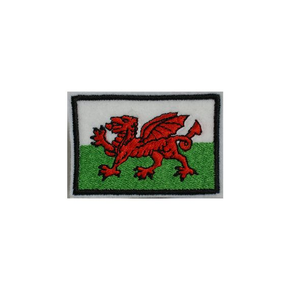 WALES FLAG Embroidered Iron On Sew On UK by StitcheryComplete