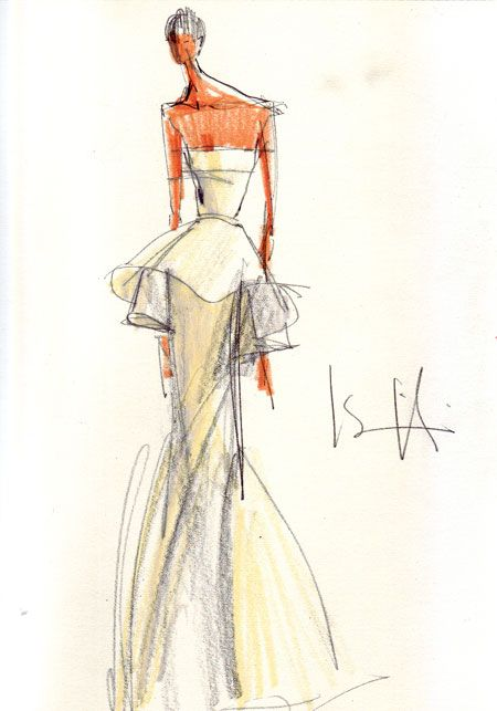 Isaac Mizrahi Wedding Dresses Sketch. One of our favorite designers, Isaac Mizrahi, is designing a capsule collection of wedding dresses exclusively for The Aisle New York, an online bridal boutique that offers flash sales on discounted designer wedding gowns and accessories.