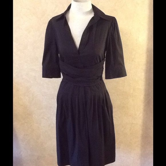 """BCBGMAXAZRIA DRESS NWT  A soft, light weight summer dress. It is made of cotton, nylon and spandex. It has a side zipper, pleated skirt, puckered shoulder sleeve, and criss cross waist accent. This size 6 has a 36"""" bust, 27"""" waist and 37"""" hip. BCBGMaxAzria Dresses"""