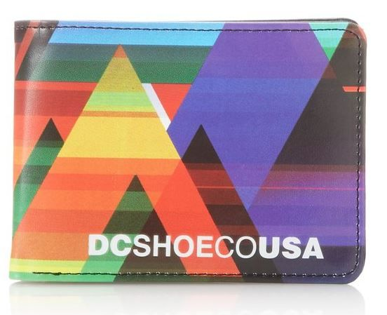 Cool for a skateboarding teen! One of the dazzling colourways from DC Shoe's designer range of men's Touchstone wallets.  A standard bi-fold wallet, with a large pouch for notes and six smaller pockets for cards. #Wallet #Teens Wallet