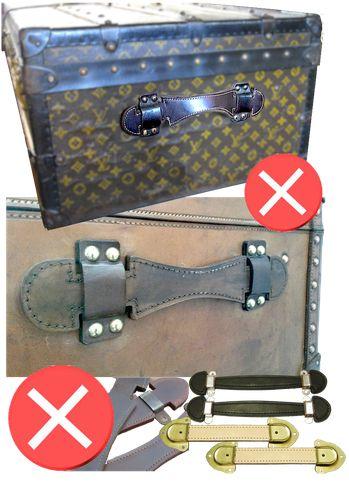 Guide d'achat malle de luxe - restauration trunk malle ancienne louis vuitton goyard moynat cuir poignées
