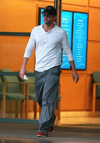 Bradley Cooper Henley - This long sleeve top looks comfy and casual.