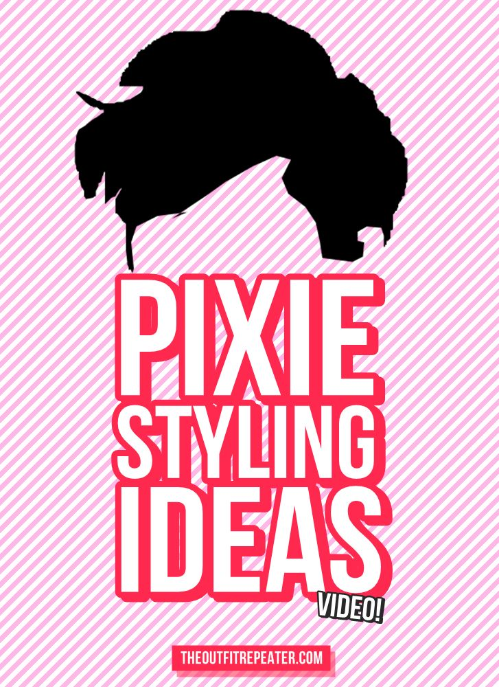 Don't rip your hair out just yet. Watch my video for some stupidly simple ideas on styling a pixie cut!