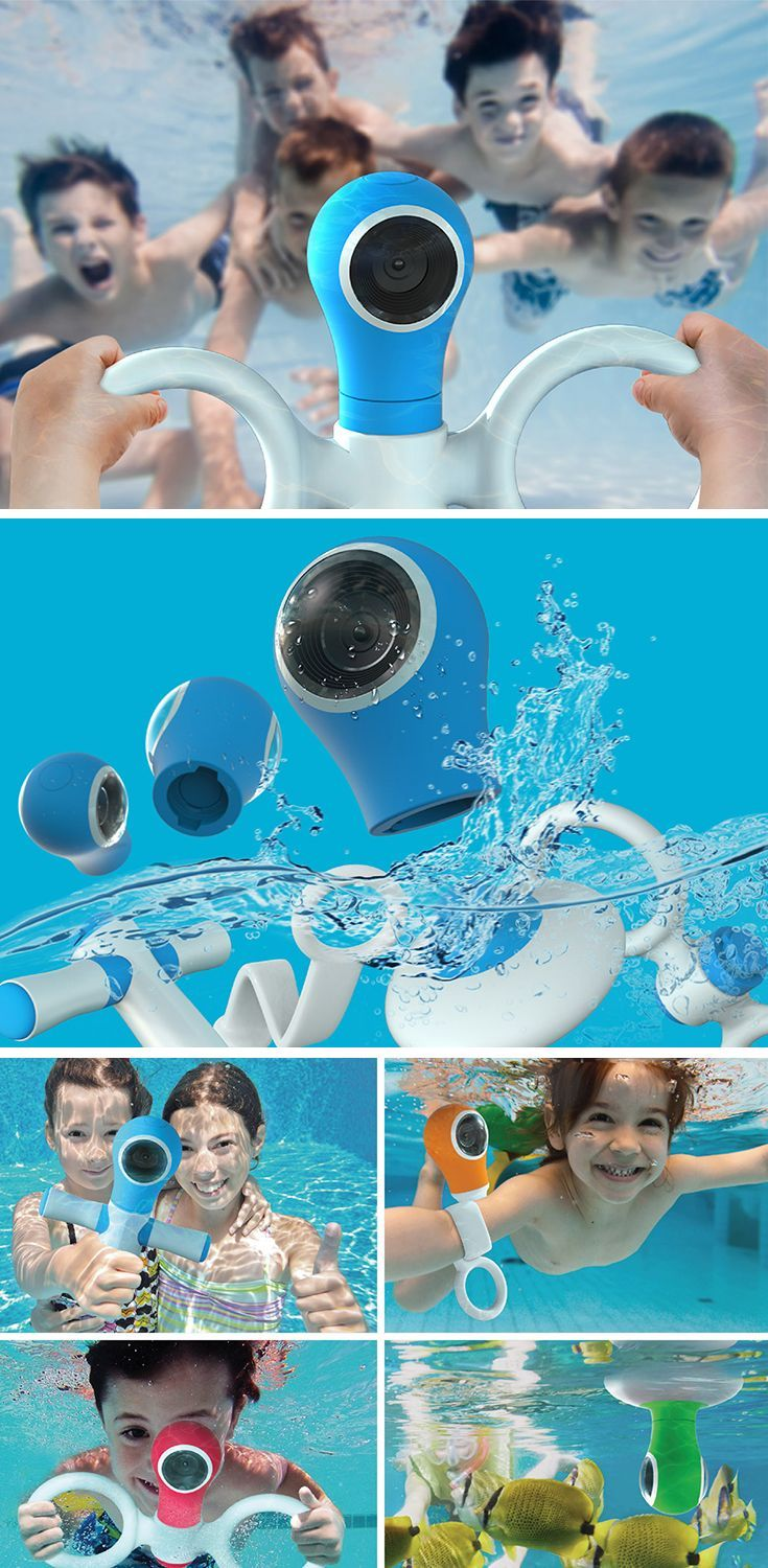 The only thing that makes underwater playtime more fun is by reliving it! Now, kids can do so with the 360° Underwater Toy Action Cam. This sealed camera is safe to use in and under water and durable enough to withstand all the throwing and splashing you can give it. With included accessories like a buoy holder, grapple mount, underwater selfie stick and wearable strap for first-person perspective.