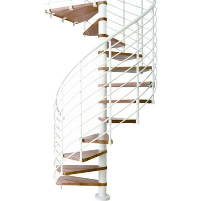 Best Dolle Oslo 47 In 11 Tread White Spiral Staircase Kit 400 x 300