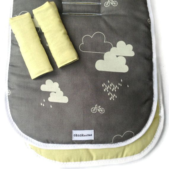 Clouds Universal Pram Liner / Stroller Liner by chuckandtaz, $59.00