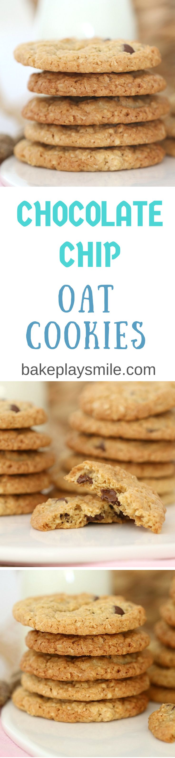 These Chocolate Chip Oat Cookies really are the best of both worlds (part ANZACS + part choc chip bikkie = one totally DELICIOUS cookie!!).   #chocolate #chip #oat #cookies #biscuits #recipe #easy #thermomix #conventional #best