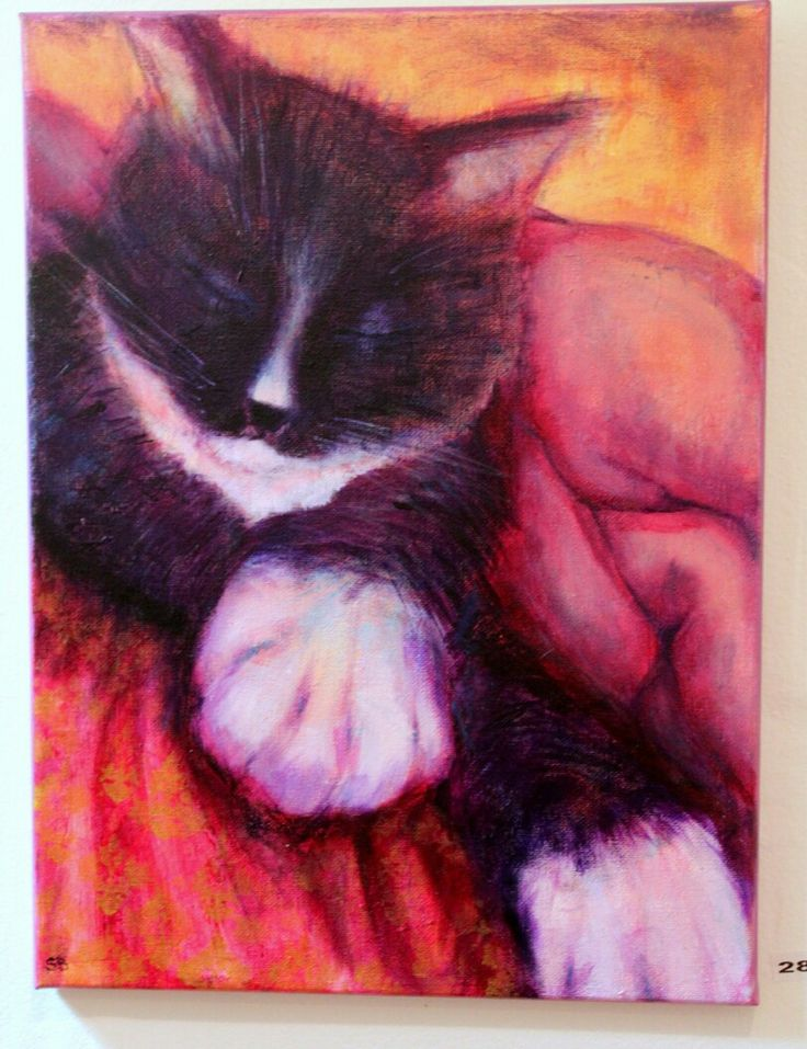 #originial #painting #acrylic on canvas 50 x 70 cm . A #portrait of our darling Boo for #exhibition March 2017  #mycanvas #cat #furbaby