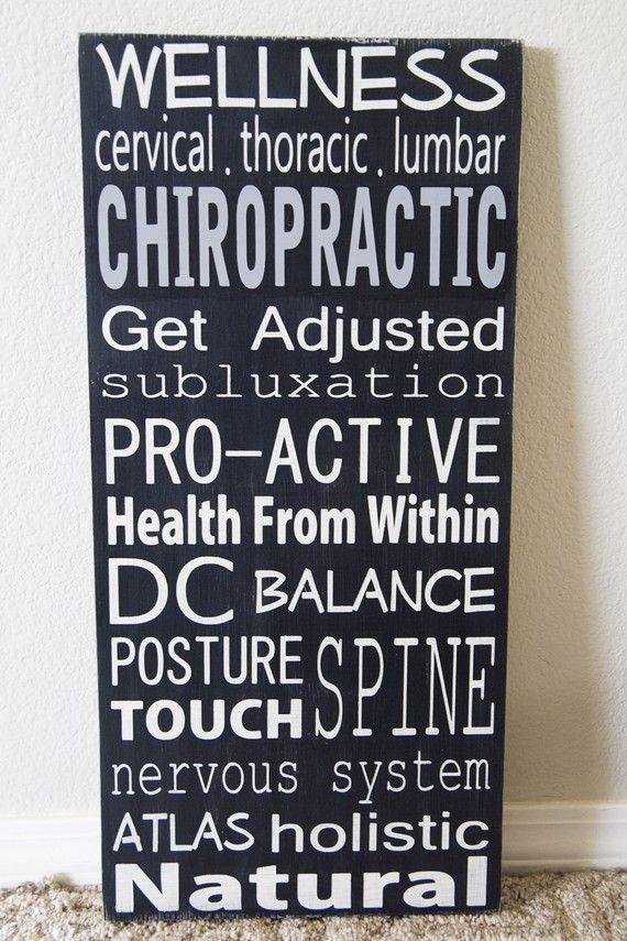 Chiropraktik-Zeichen. Beruf/Karriere-Zeichen von WordWhipped