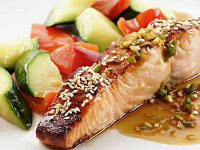 Salmon: Brown Rice, Healthy Fish Recipe, Heart Healthy Meals, Food, Healthy Diet Recipe, Heart Healthy Recipe, Broil Salmon, Salmon Recipe, Honey Soy